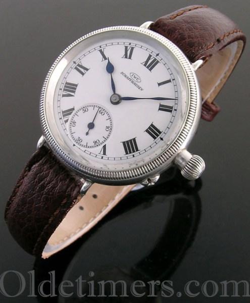 1916 silver vintage IWC 'Borgel' watch