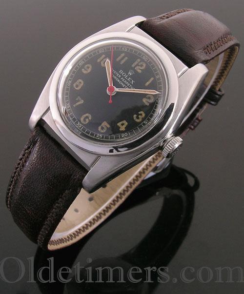 1940s steel vintage Rolex Oyster 'Bubbleback' watch (3863)