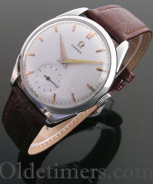 1950s round steel vintage Omega watch (3955)