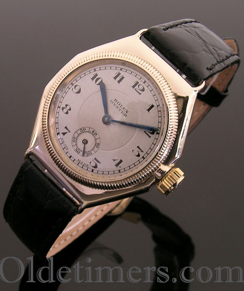 1930s 9ct gold octagonal vintage Rolex Oyster watch (3313)