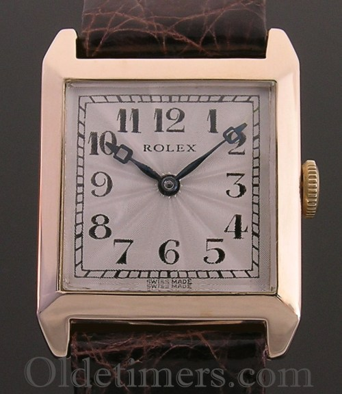 1920s 9ct gold square vintage Rolex watch