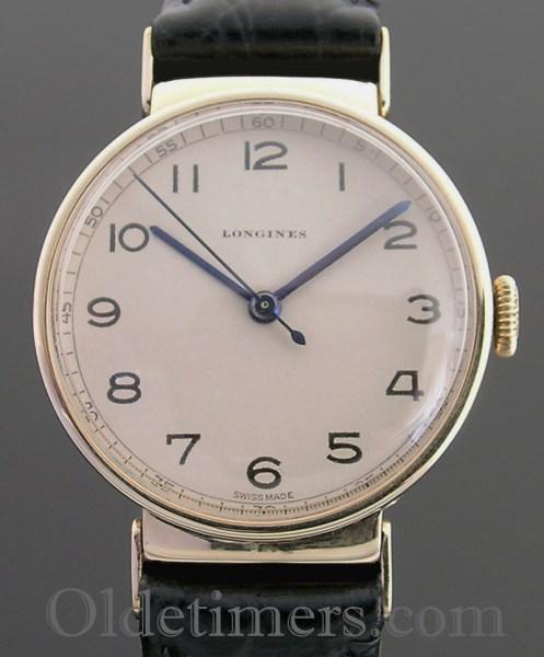 1940s 9ct gold round vintage Longines watch