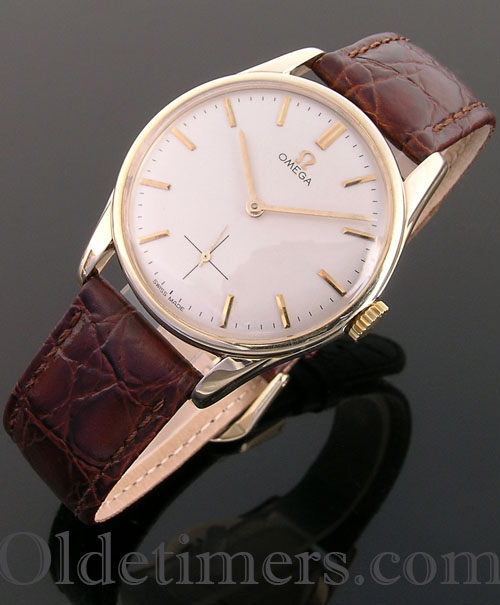 1960s 9ct gold round vintage Omega watch