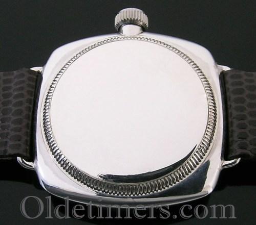 1920s silver cushion vintage Rolex Oyster watch
