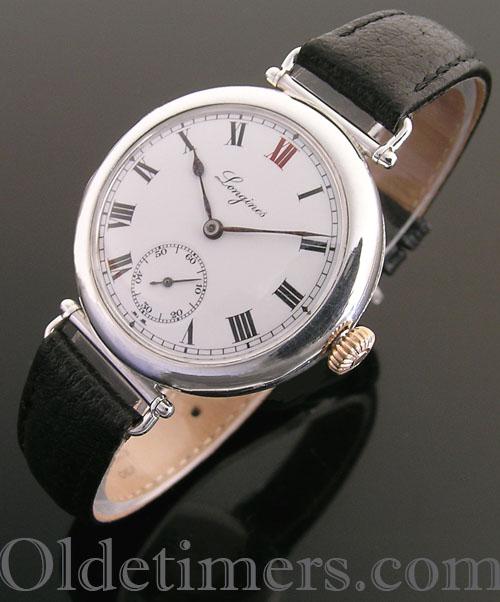 1920s silver round vintage Longines watch (3820)