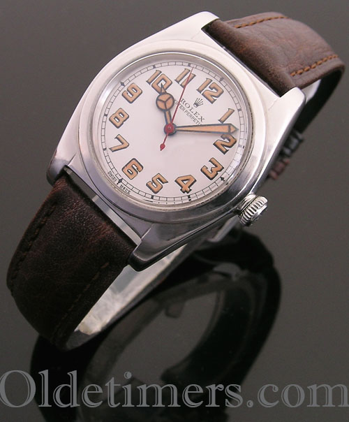 1940s steel vintage Rolex Oyster 'Bubbleback' watch (3986)