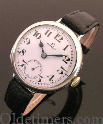 1914 nickel round vintage Omega watch