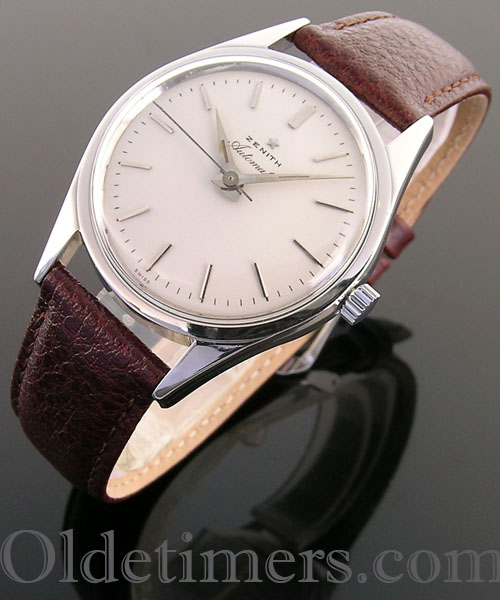 1950s steel automatic vintage Zenith 'Bumper' watch (3960)