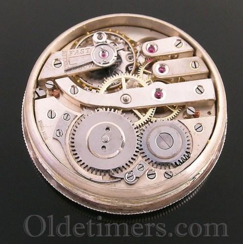 1917 silver round vintage Birch & Gaydon 'Officers' watch