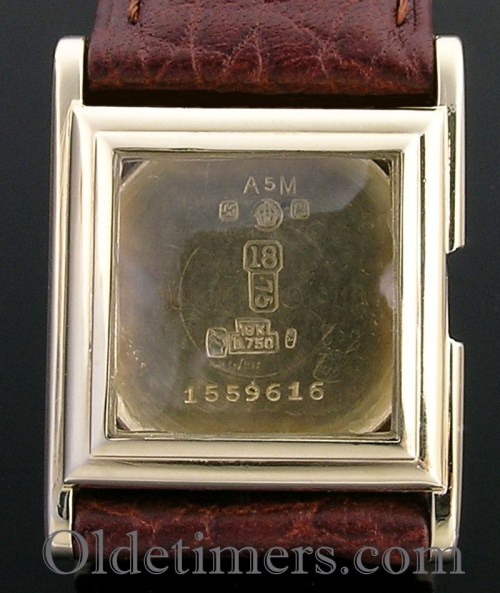 1920s 18ct gold square vintage Hermes watch