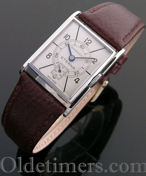 1930s steel rectangular vintage Dunhill watch (3994)
