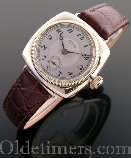 1920s 9ct gold cushion vintage Rolex Oyster watch (3967)