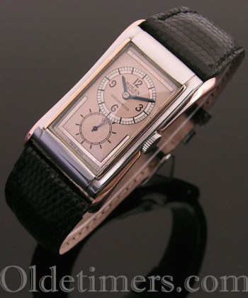 1930s steel & gold vintage Rolex Prince Brancard watch