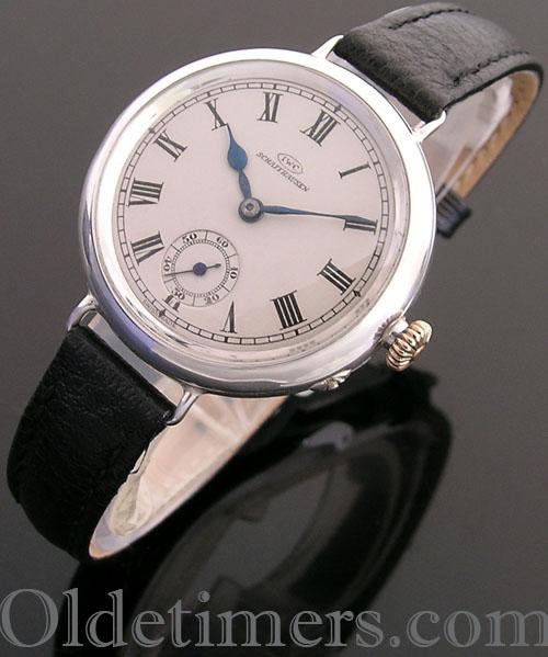 1920s round silver vintage IWC watch (3806)