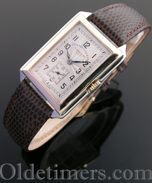 1930s 9ct two-colour gold vintage Camerer Cuss watch (4060)