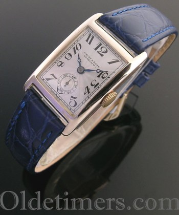 1920s 9ct gold rectangular vintage Kirby & Bunn watch