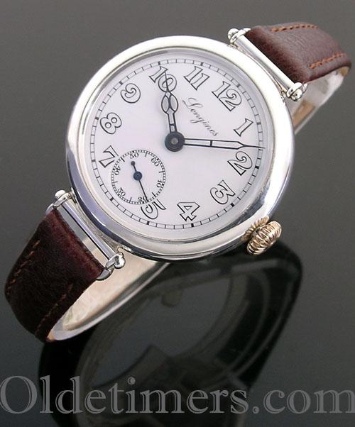 1920s round silver vintage Longines watch (3974)