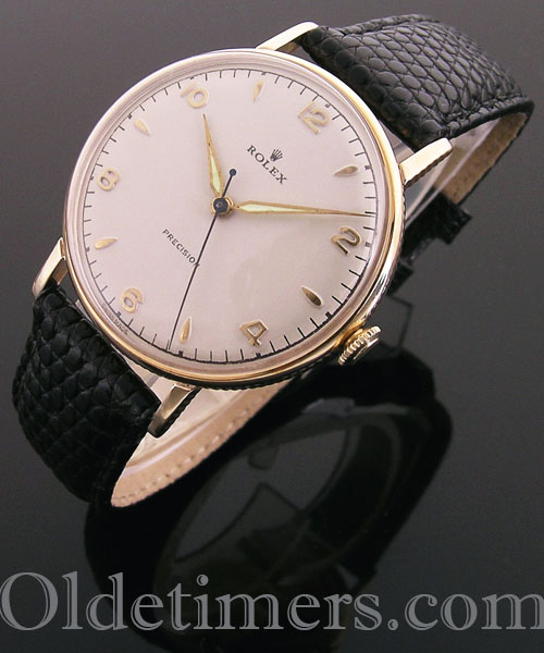 1950s 9ct gold round vintage Rolex Precision watch (4004)