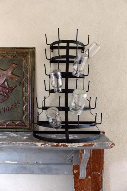 Vintage Style BottleMug Rack Vintage American Home
