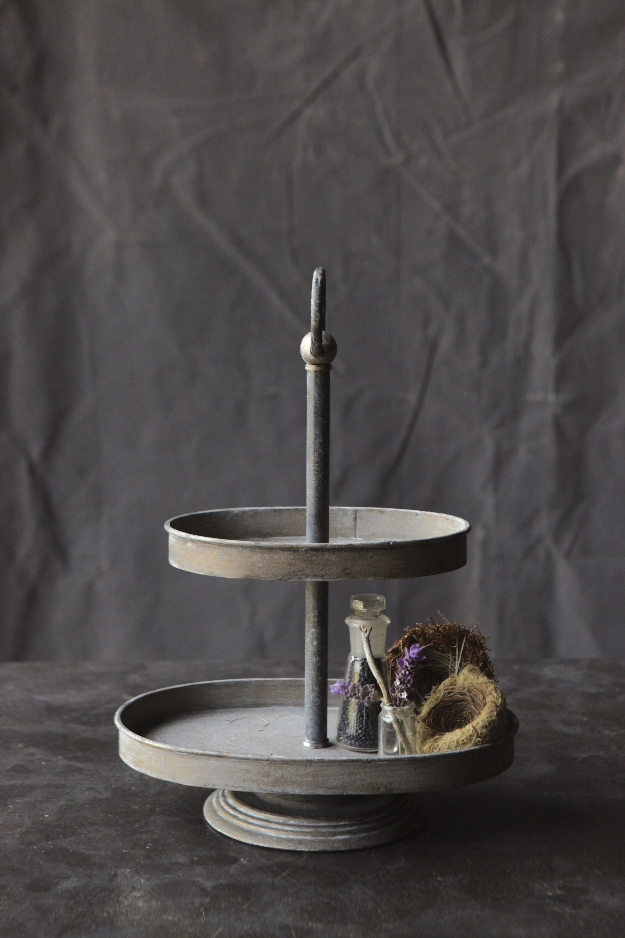 Zinc Tiered Stand Vintage American Home