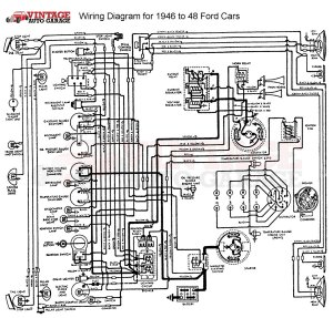 19461948 Ford Mercury Chrome 6V12V Conversion Kit