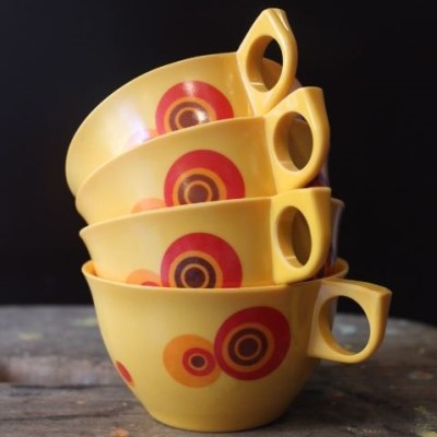Tasses camping vintage