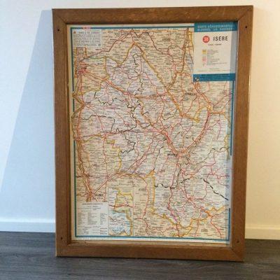 Ancienne Carte départementale Blondel la Rougery