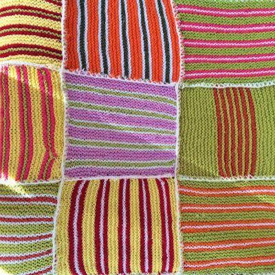 Plaid tricoté main vintage