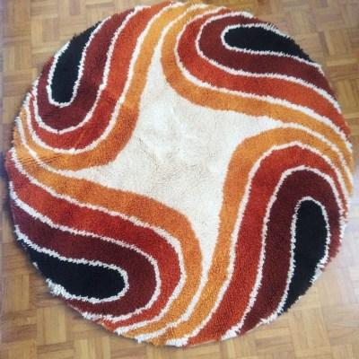 Tapis laine mèche longue 1970