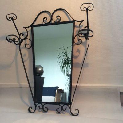 Miroir mural vintage fer forgé