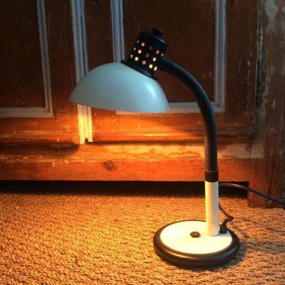 Lampe à poser blanche aluminor
