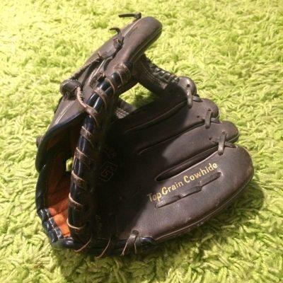 Authentique Gant Baseball cuir vintage