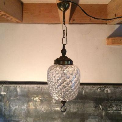 Suspension Art Déco verre transparent
