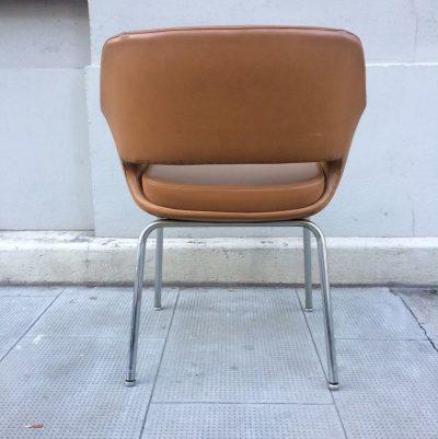 Ancien fauteuil bureau skaï vintage