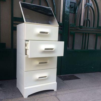 Meuble tiroirs PRISUNIC Space Age vintage