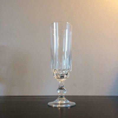 Flûte à champagne cristal vintage
