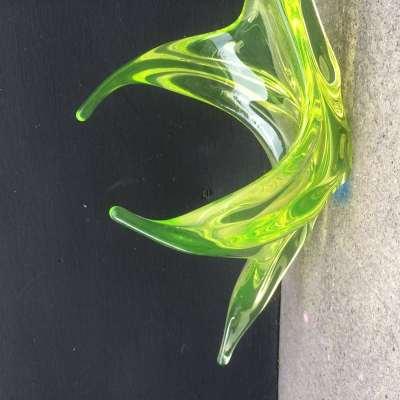 Ancienne coupe à fruits en verre de Murano