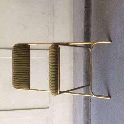 Chaise pliante vert kaki lafuma vintage
