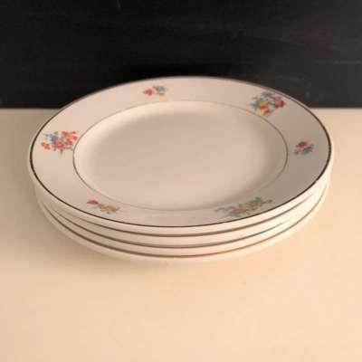Ancienne Assiettes à dessert porcelaine luneville