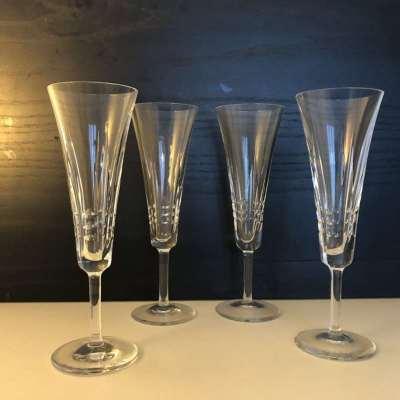 Flutes à champagne cristal vintage