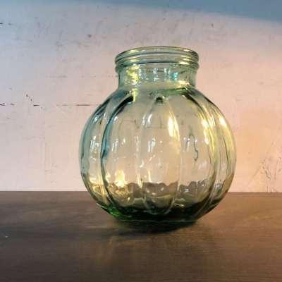 Vase boule verre soufflé