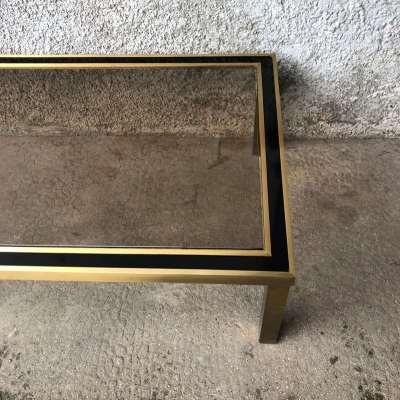 Table basse vintage style belgo chrome