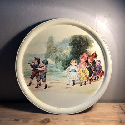 Plateau vintage jeux d'enfants