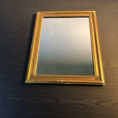 Miroir cadre doré Art Déco
