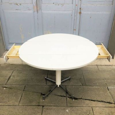 Table ronde modulable vintage
