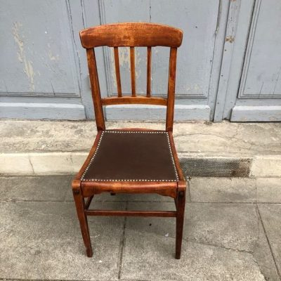chaise bistrot assise skai
