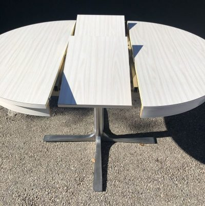 Table ronde formica blanc vintage