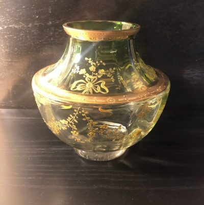 Ancien vase cristal de boheme