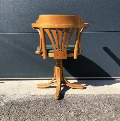 Ancien fauteuil bureau pivotant Thonet