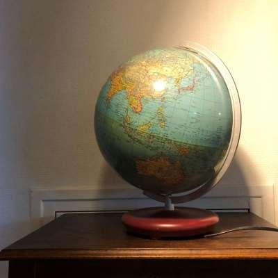Globe terrestre vintage duplex